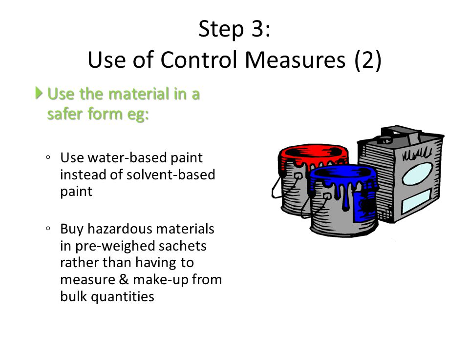 Step 3: Use of Control Measures (2)