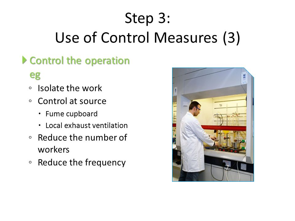 Step 3: Use of Control Measures (3)