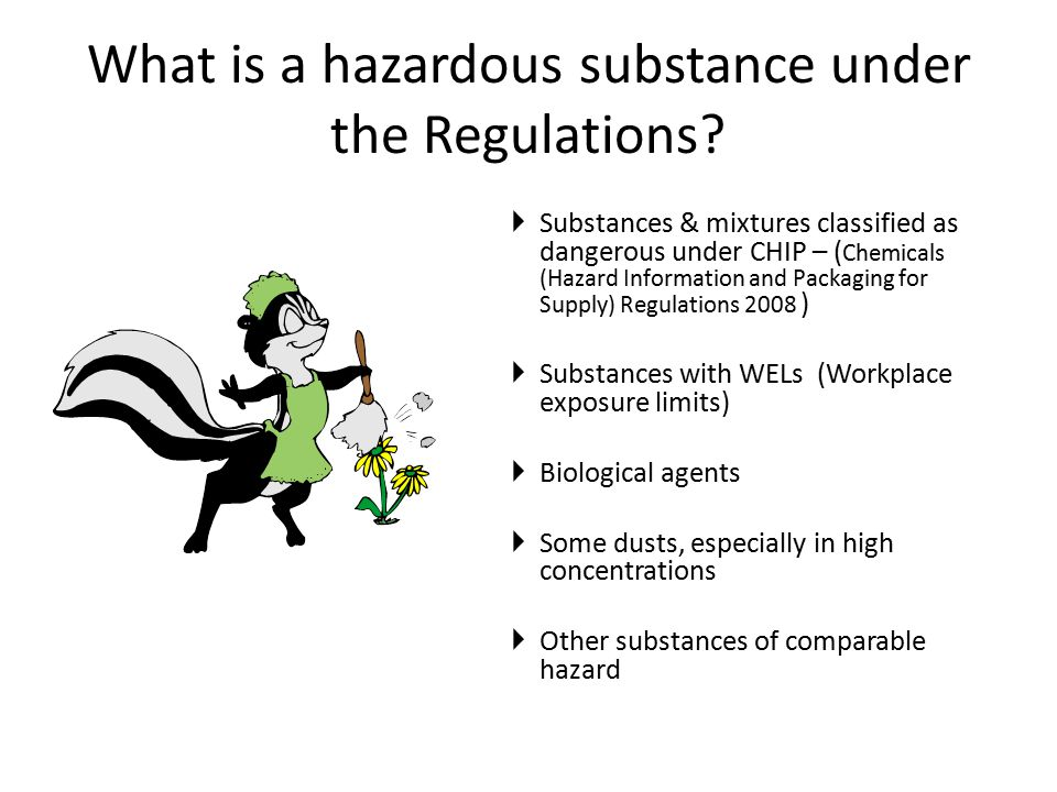What is a hazardous substance under the Regulations