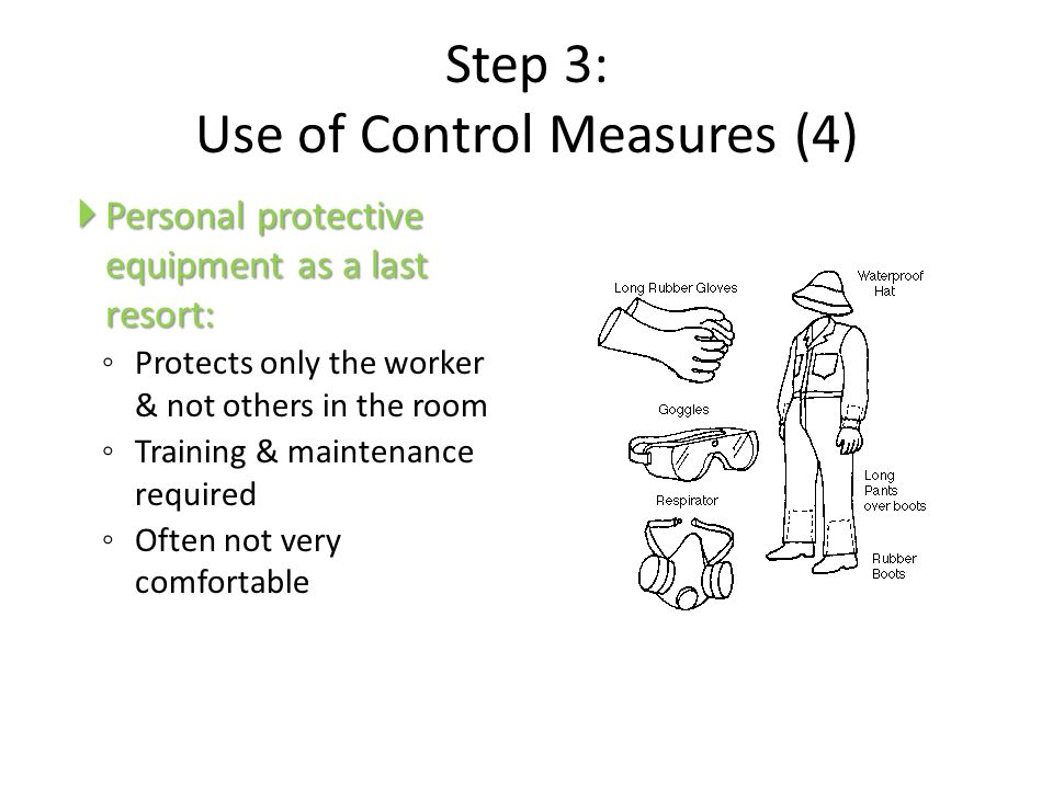 Step 3: Use of Control Measures (4)