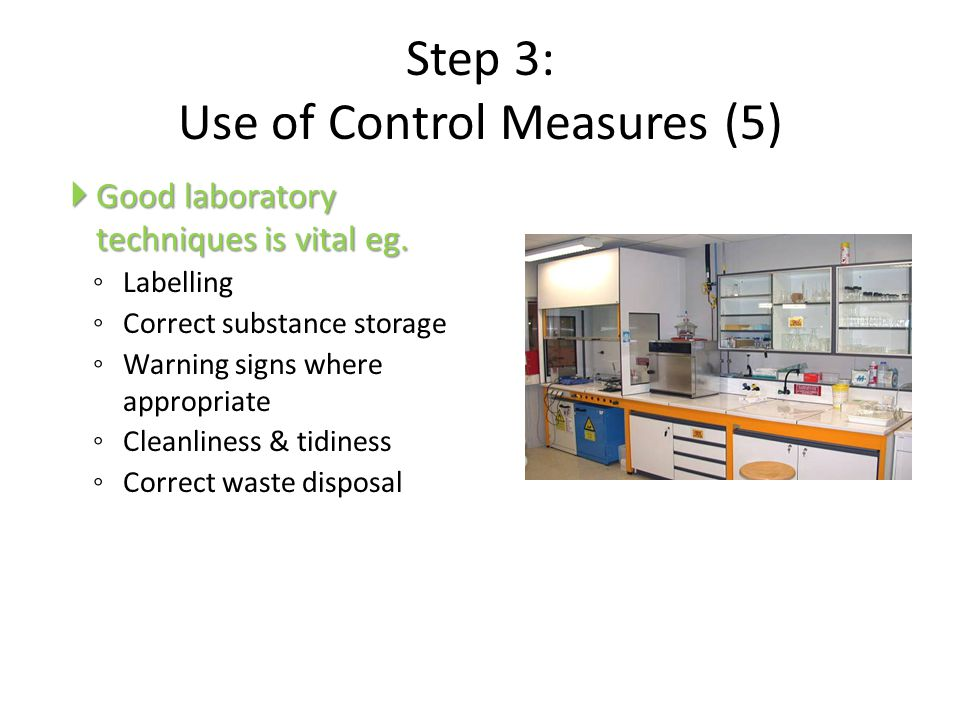 Step 3: Use of Control Measures (5)