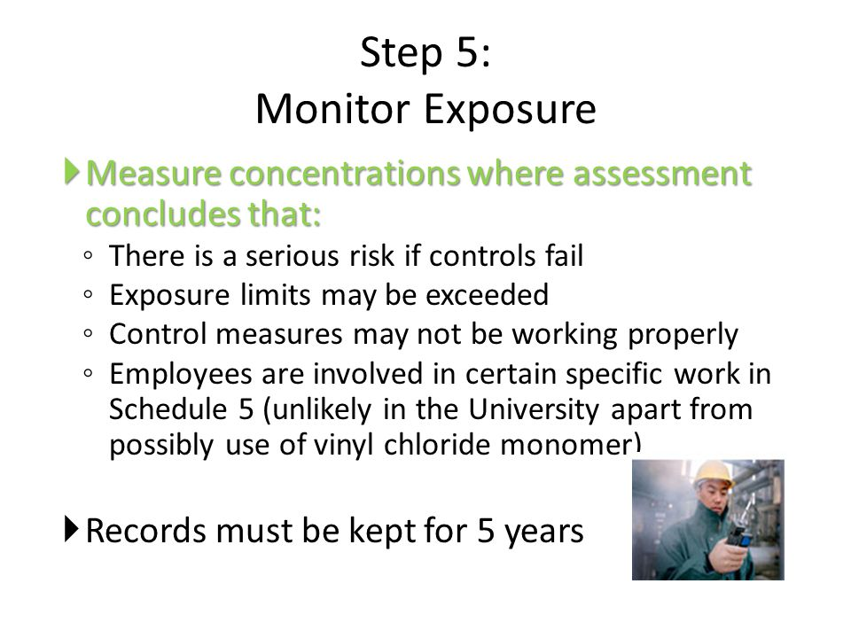 Step 5: Monitor Exposure