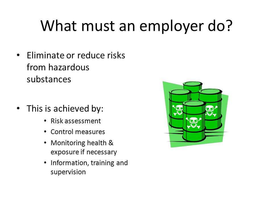 What must an employer do