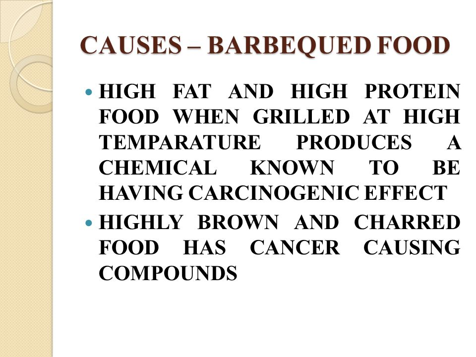 CAUSES – BARBEQUED FOOD