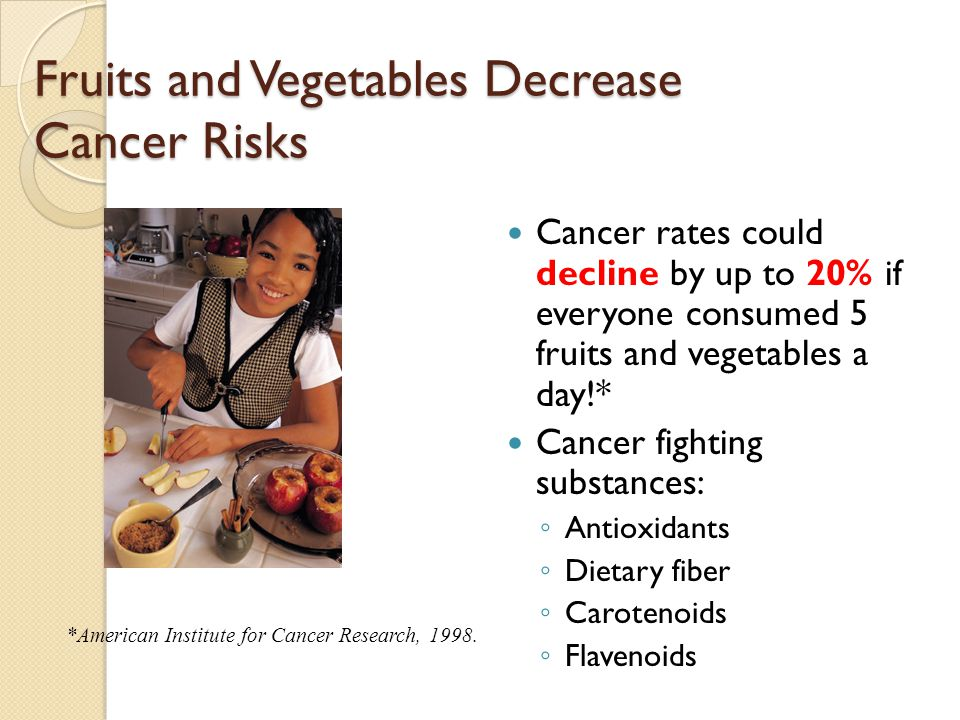 Fruits and Vegetables Decrease Cancer Risks