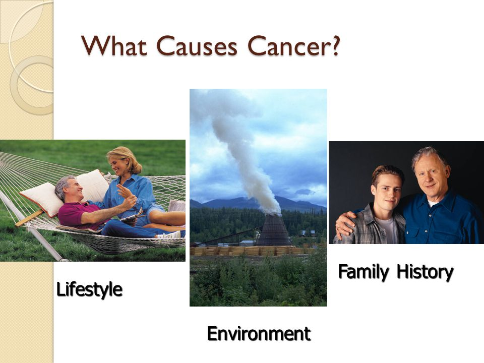 What Causes Cancer Family History Lifestyle Environment