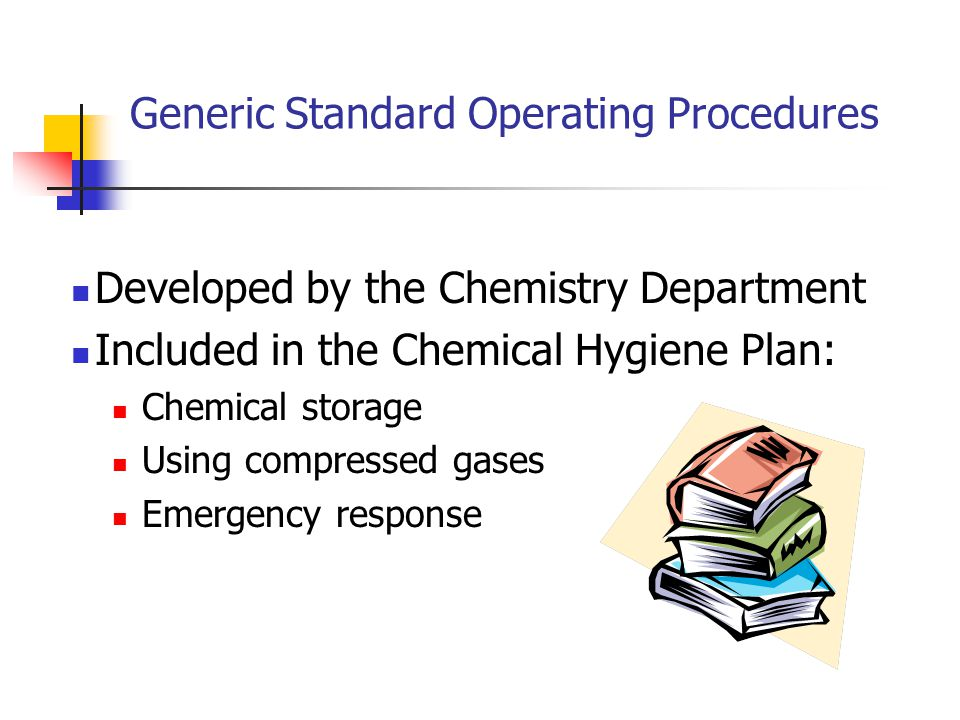 Generic Standard Operating Procedures