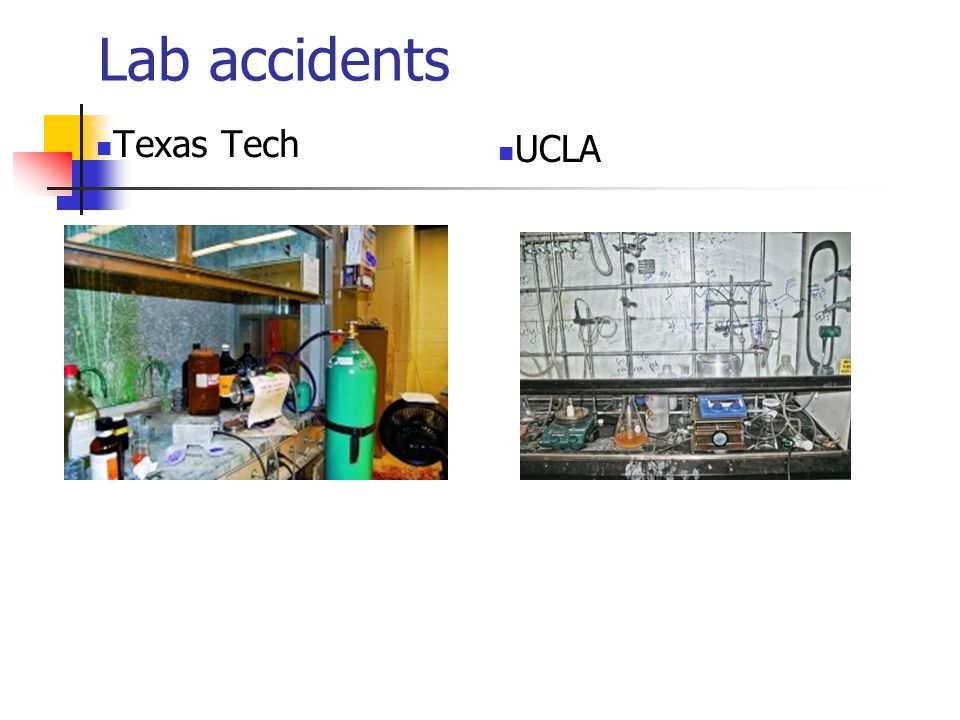 Lab accidents Texas Tech UCLA