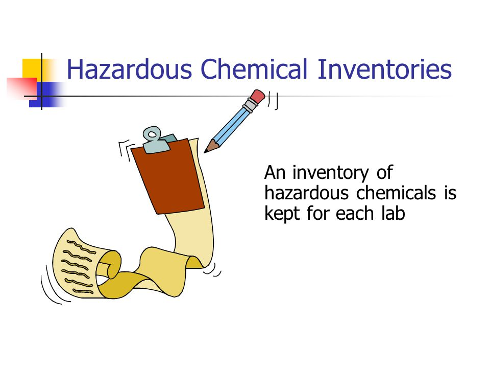 Hazardous Chemical Inventories