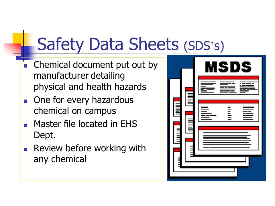 Safety Data Sheets (SDS's)