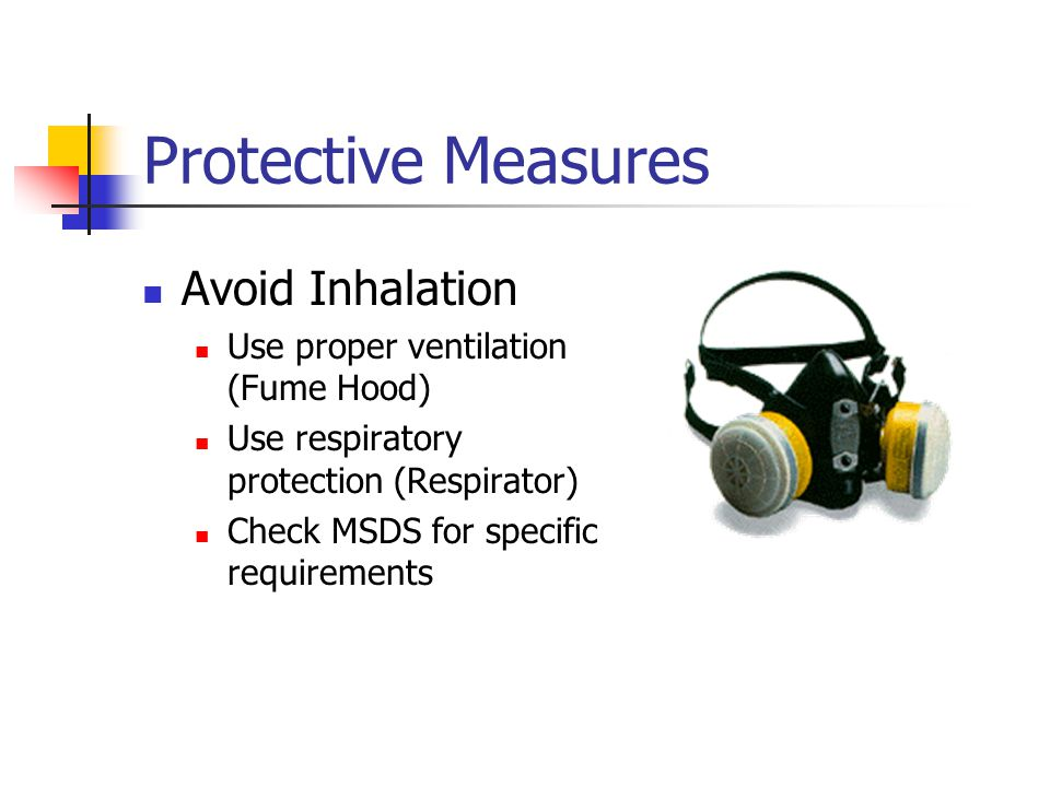 Protective Measures Avoid Inhalation