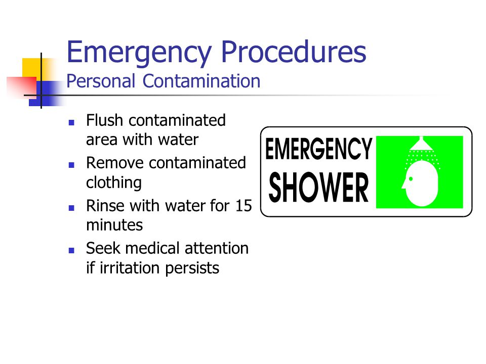 Emergency Procedures Personal Contamination