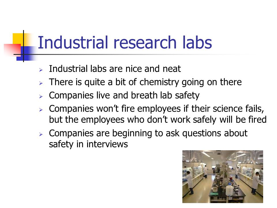 Industrial research labs