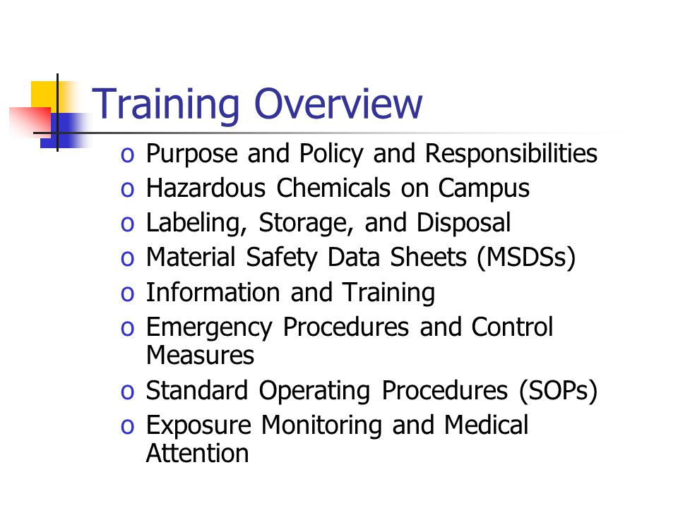 Training Overview Purpose and Policy and Responsibilities