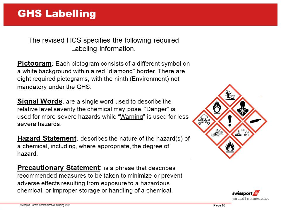 The revised HCS specifies the following required Labeling information.