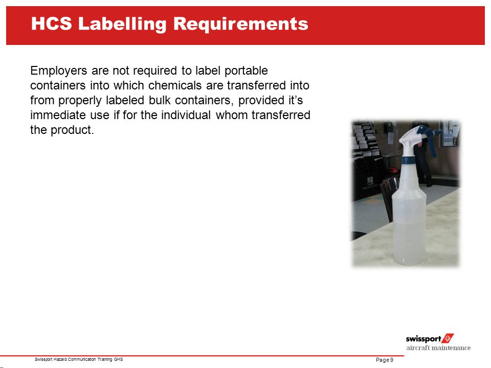 HCS Labelling Requirements