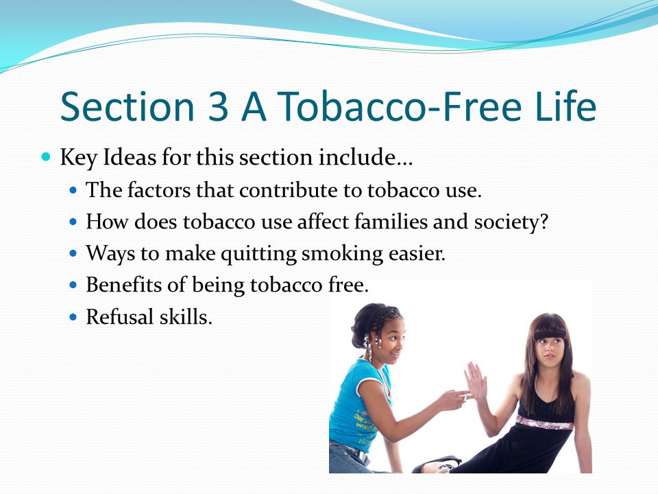 Section 3 A Tobacco-Free Life
