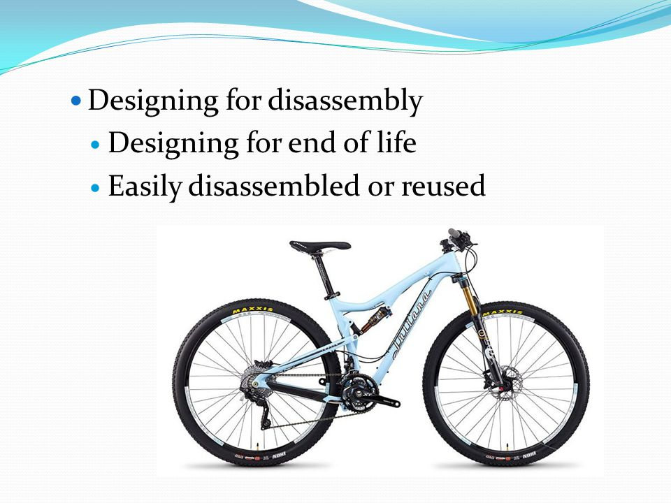 Designing for disassembly
