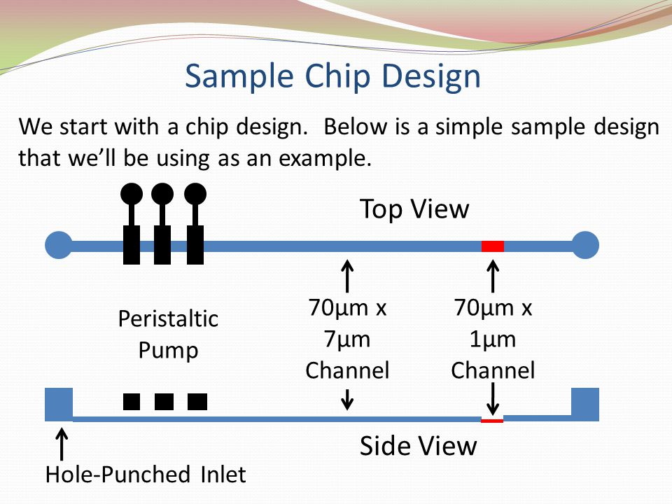 Sample Chip Design Top View Side View