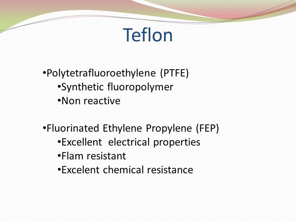 Teflon Polytetrafluoroethylene (PTFE) Synthetic fluoropolymer