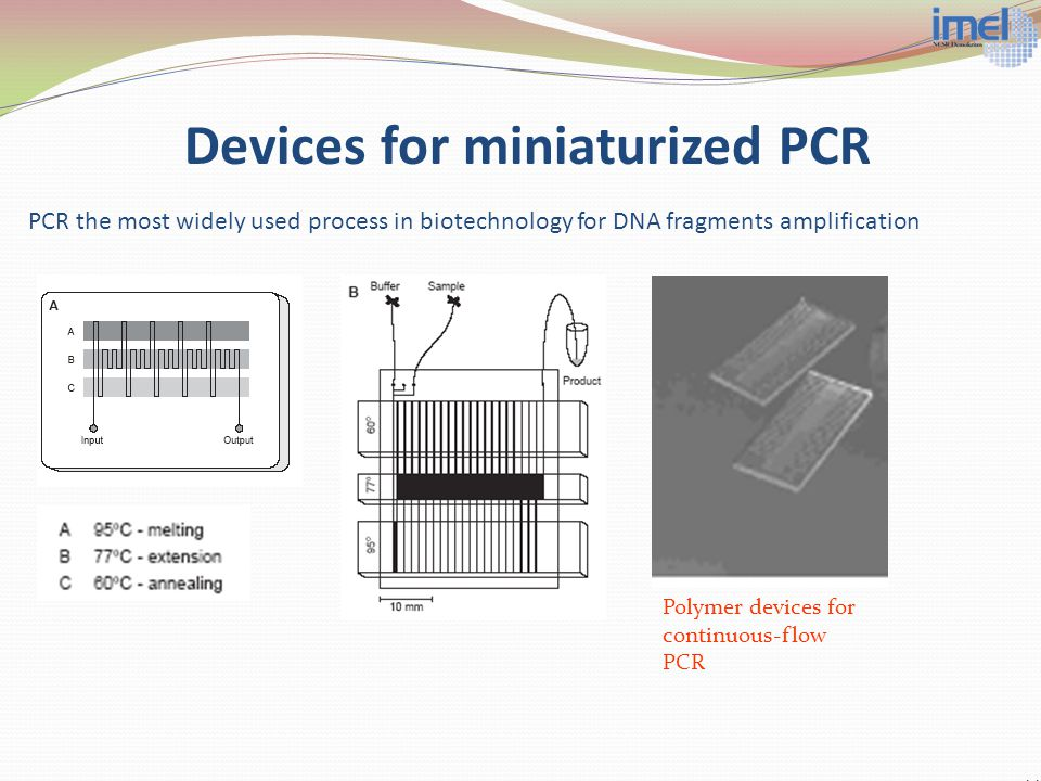 Devices for miniaturized PCR