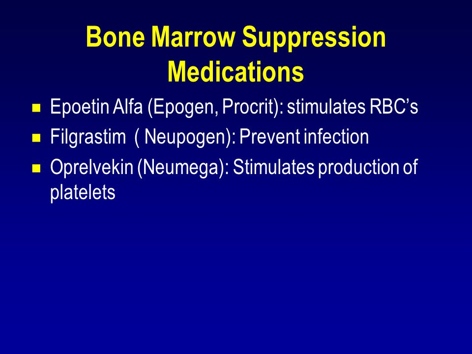 Bone Marrow Suppression Medications