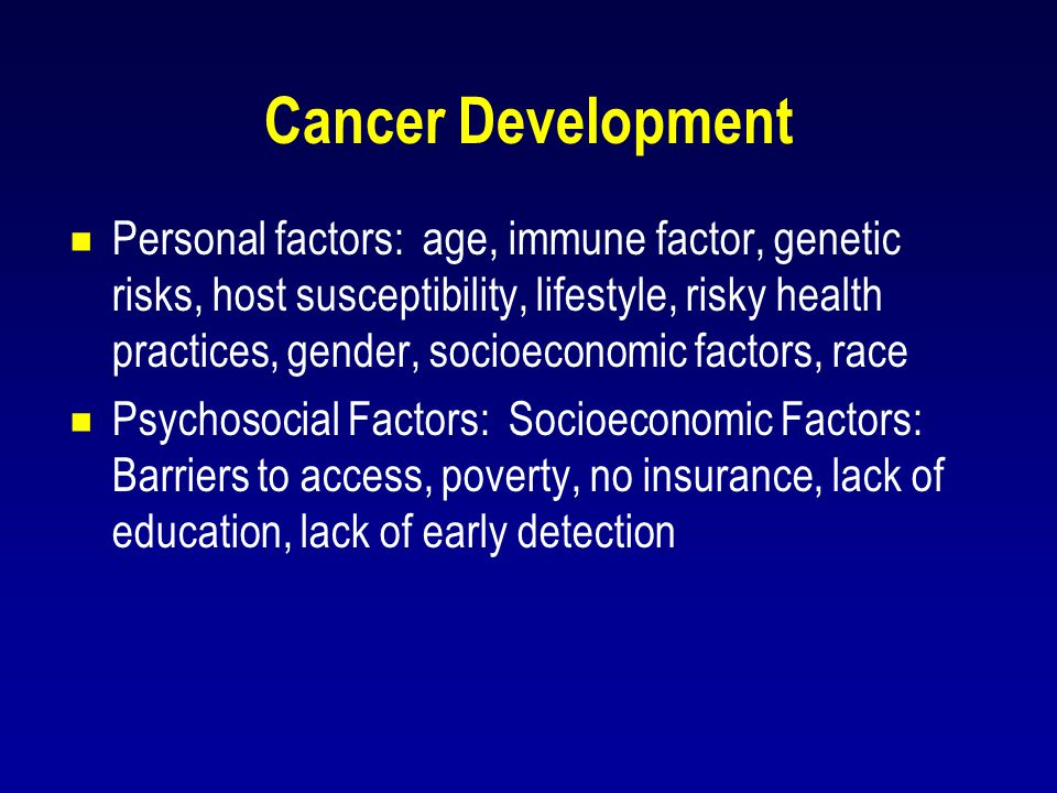 Cancer Development