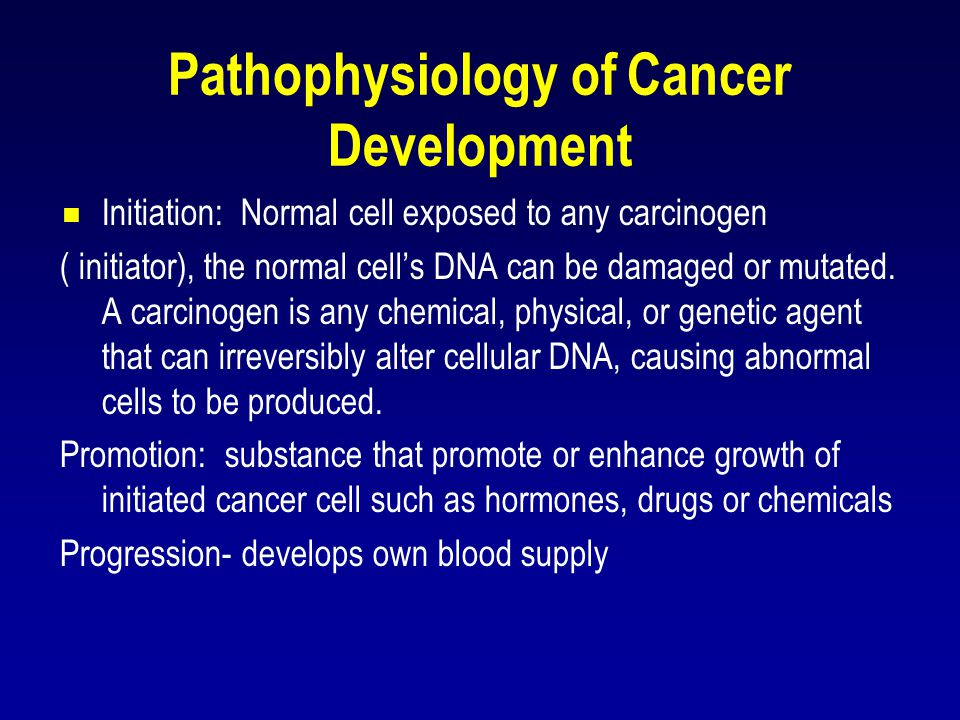Pathophysiology of Cancer Development