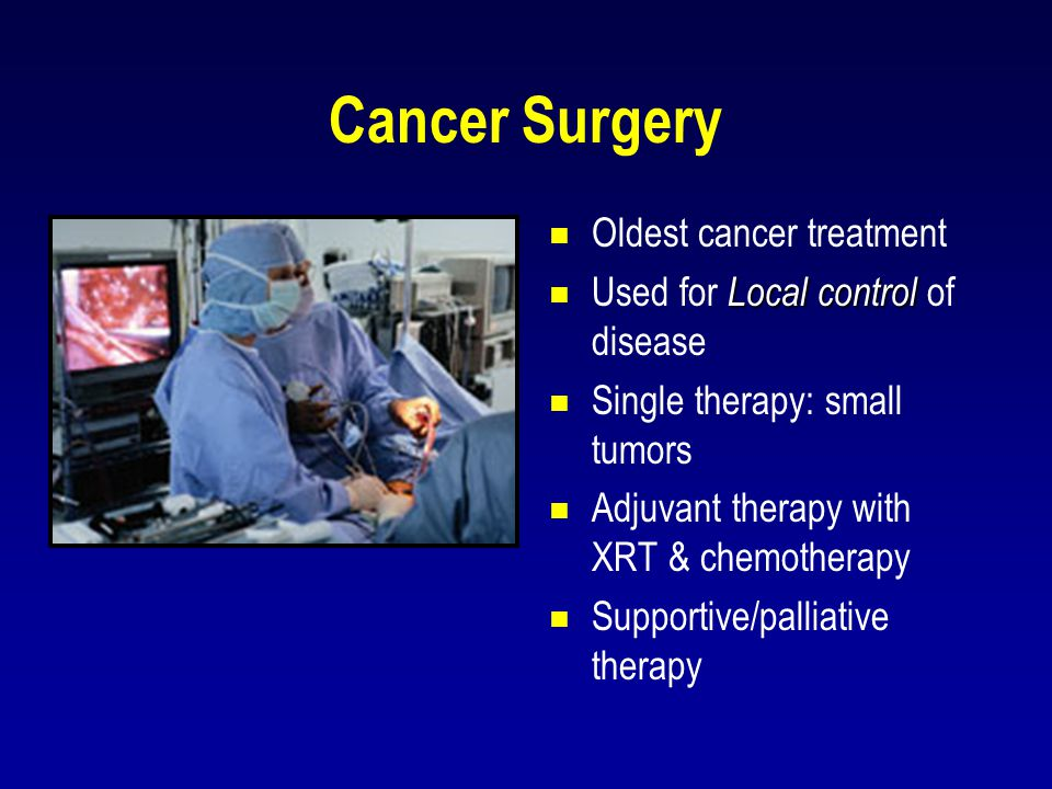 Cancer Surgery Oldest cancer treatment