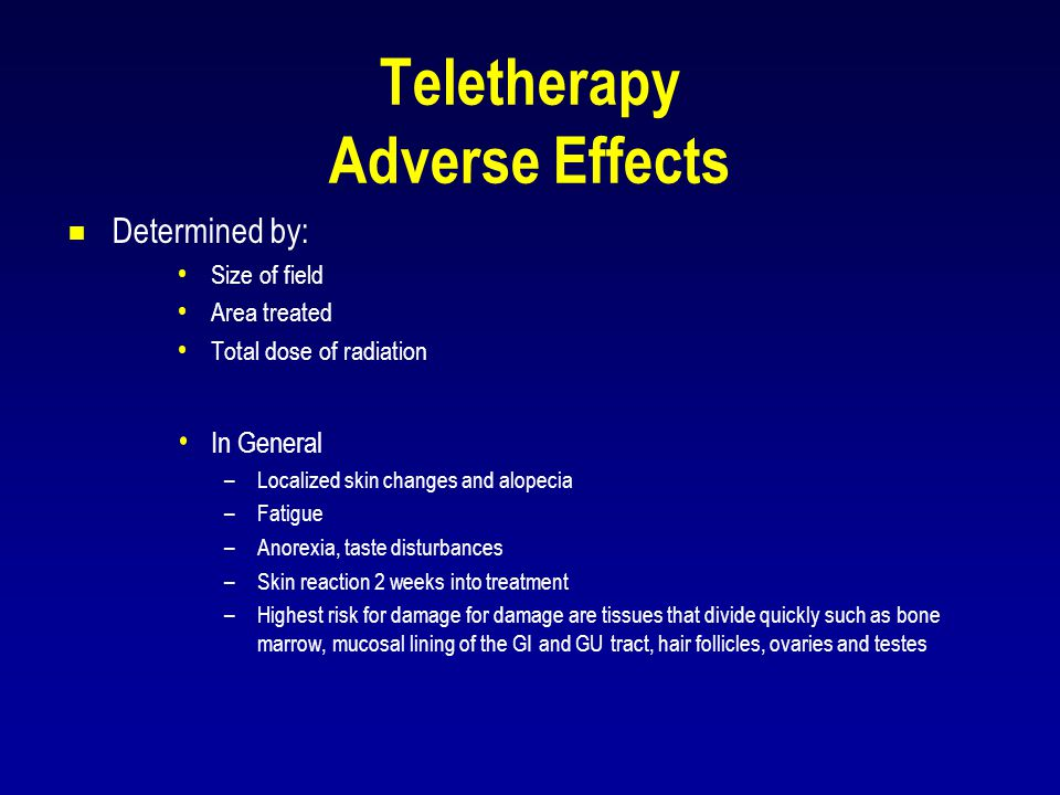 Teletherapy Adverse Effects