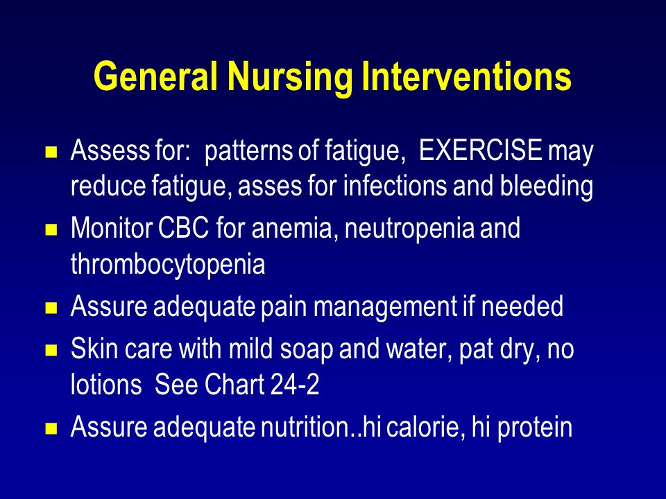 General Nursing Interventions