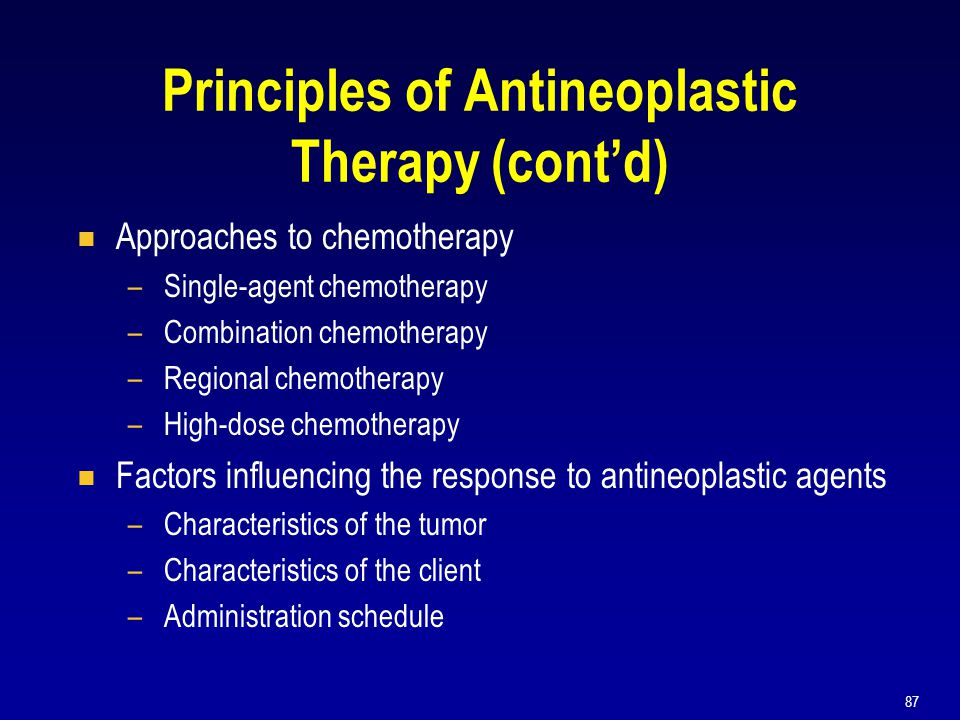 Principles of Antineoplastic Therapy (cont'd)