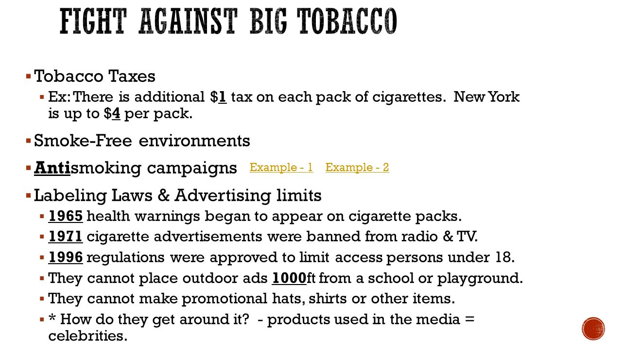 Fight Against Big Tobacco