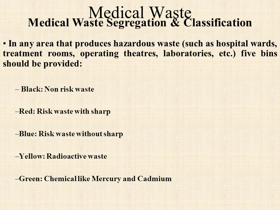Medical Waste Segregation & Classification