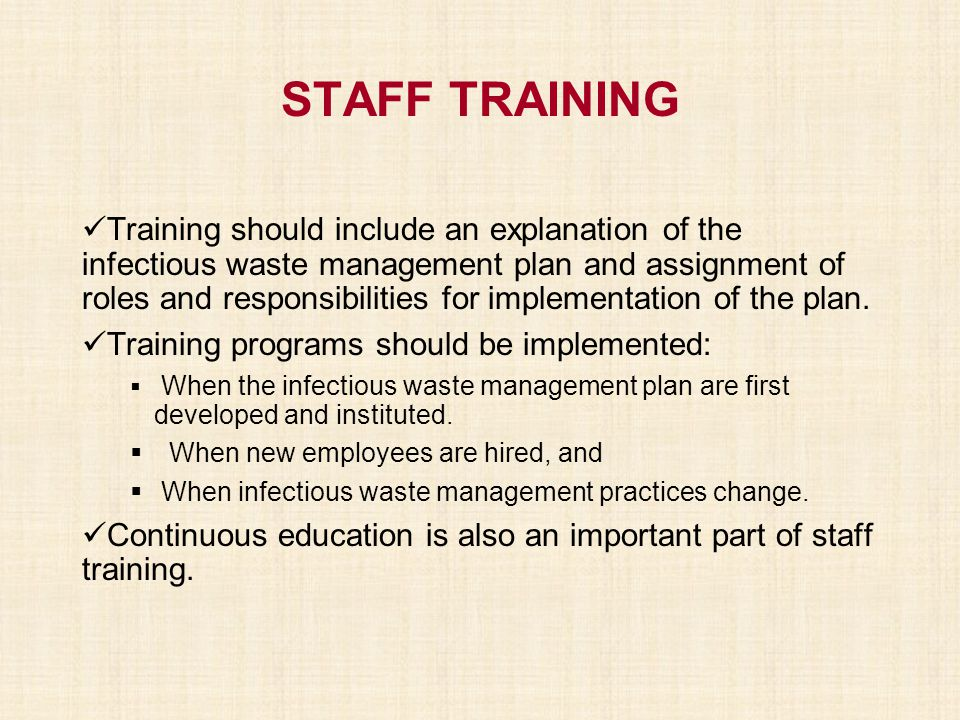 STAFF TRAINING