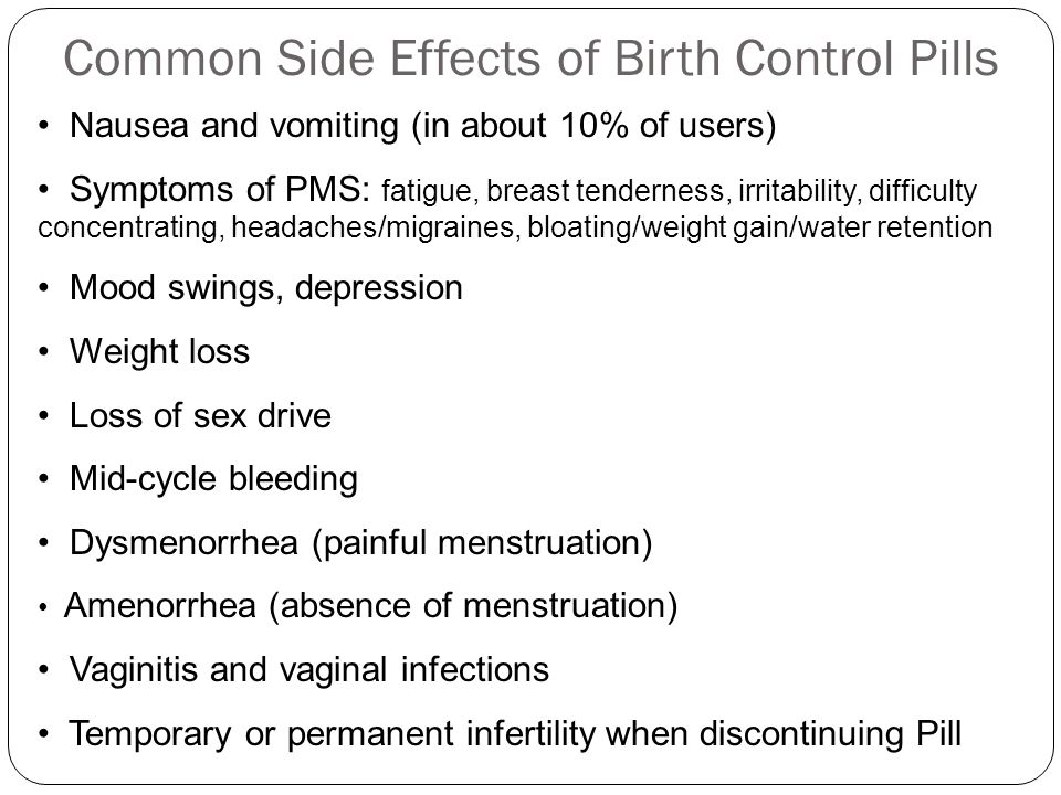 cause and effects on the birth control pill Includes augmentin side effects, interactions and amoxicillin and clavulanate potassium can make birth control pills less overdose can cause nausea.