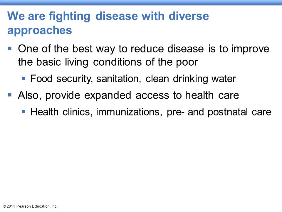 We are fighting disease with diverse approaches