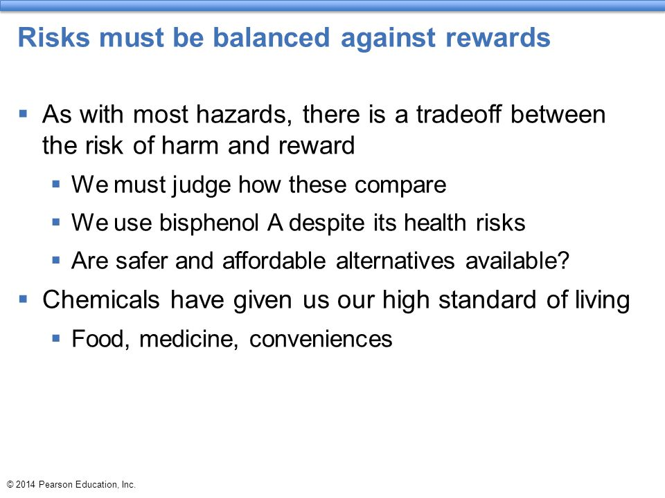 Risks must be balanced against rewards