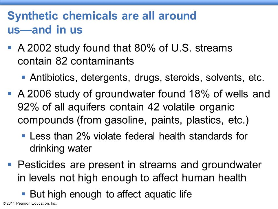 Synthetic chemicals are all around us—and in us