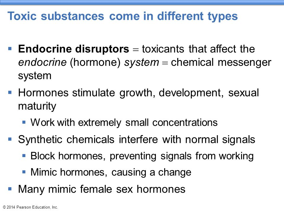 Toxic substances come in different types