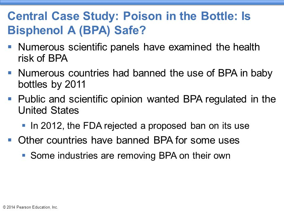 Central Case Study: Poison in the Bottle: Is Bisphenol A (BPA) Safe