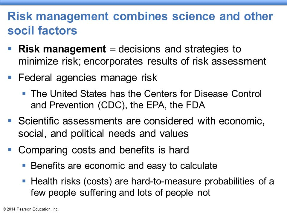 Risk management combines science and other socil factors