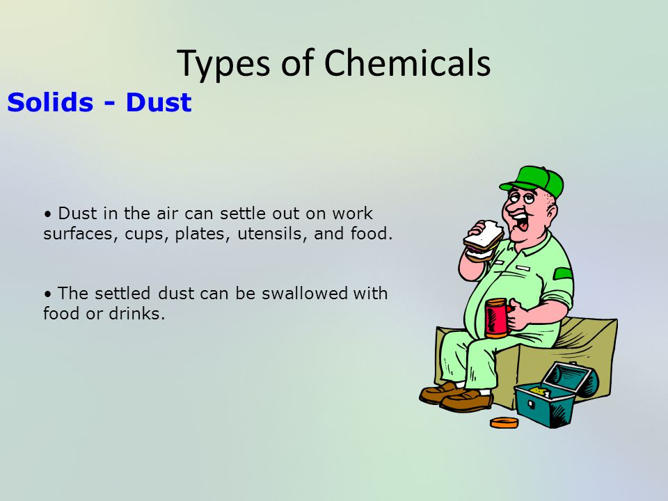 Types of Chemicals Solids - Dust