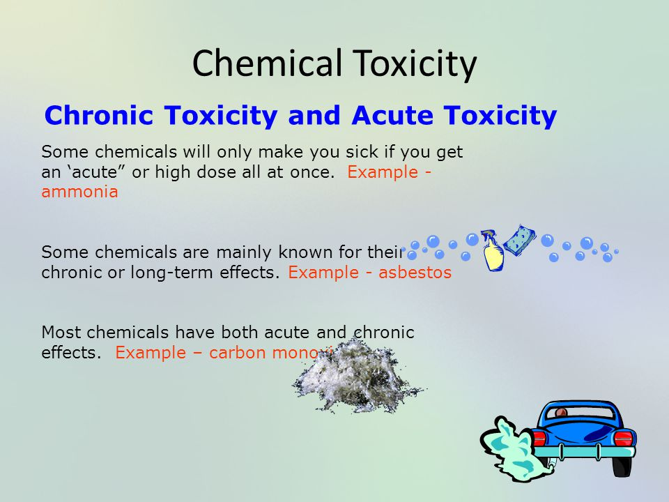 Chemical Toxicity Chronic Toxicity and Acute Toxicity