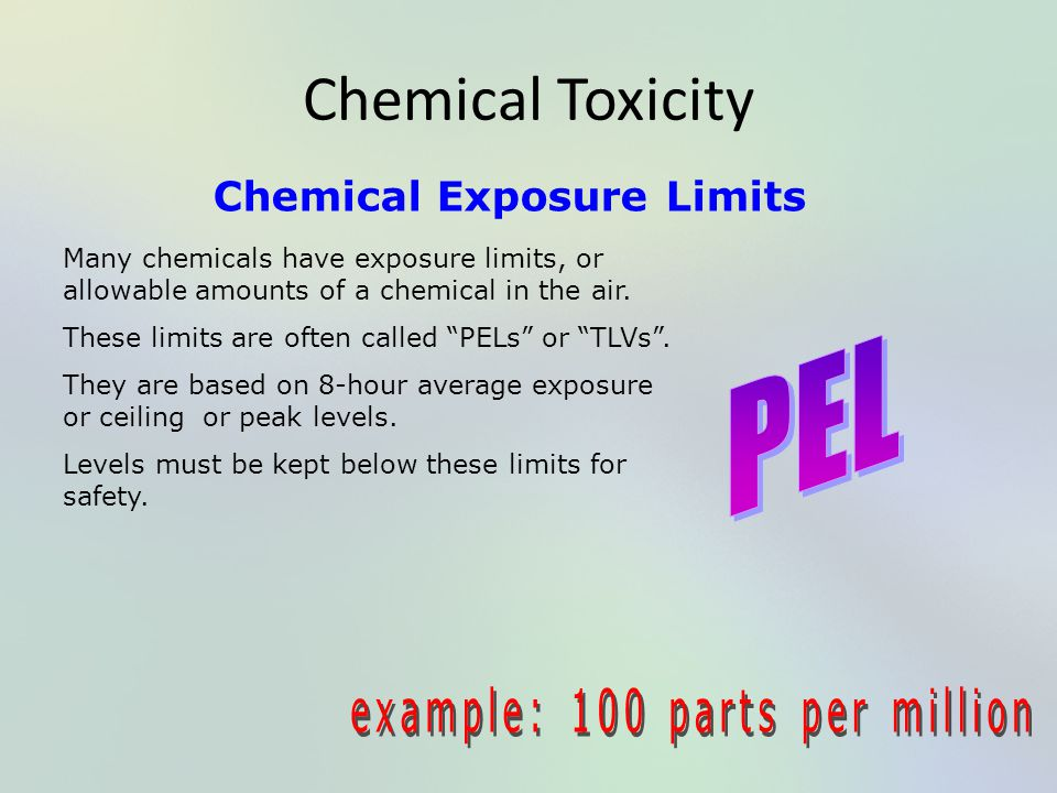 Chemical Exposure Limits