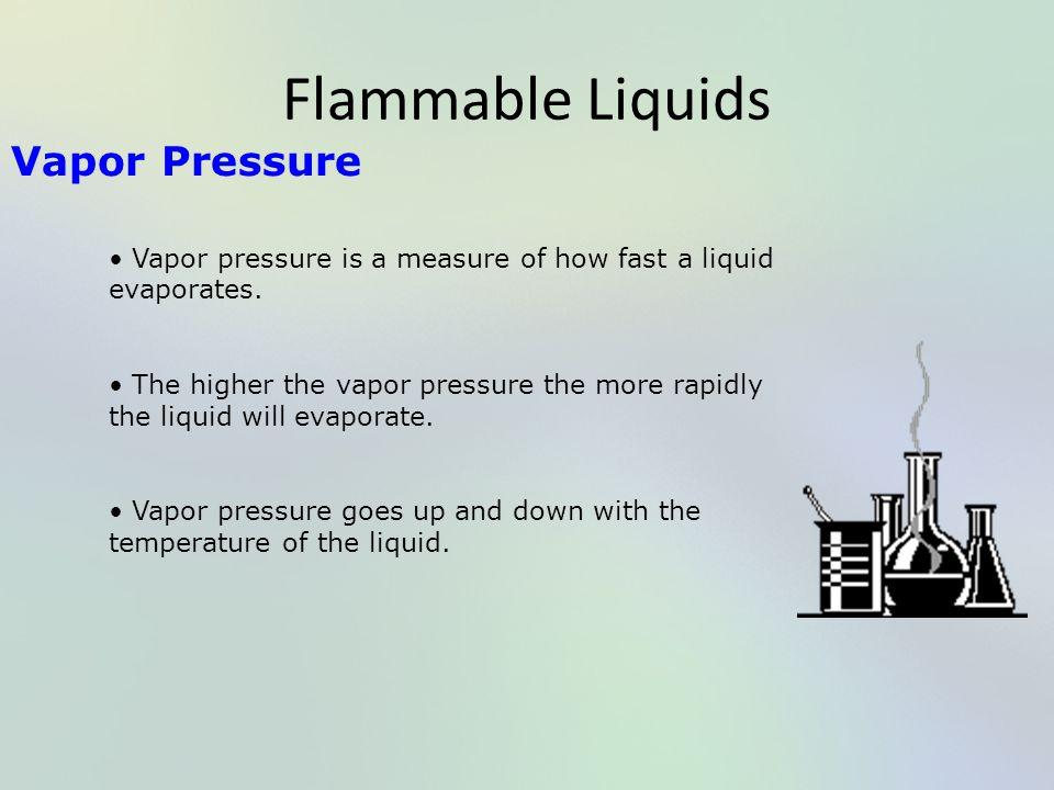 Flammable Liquids Vapor Pressure