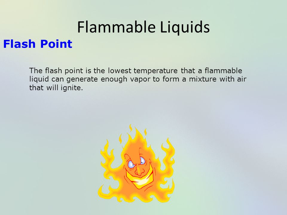 Flammable Liquids Flash Point