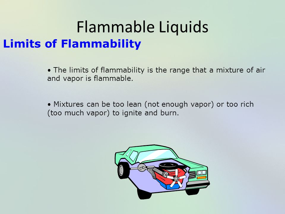 Flammable Liquids Limits of Flammability