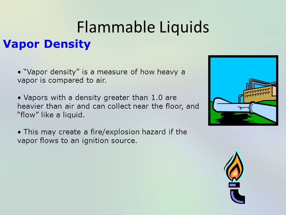 Flammable Liquids Vapor Density