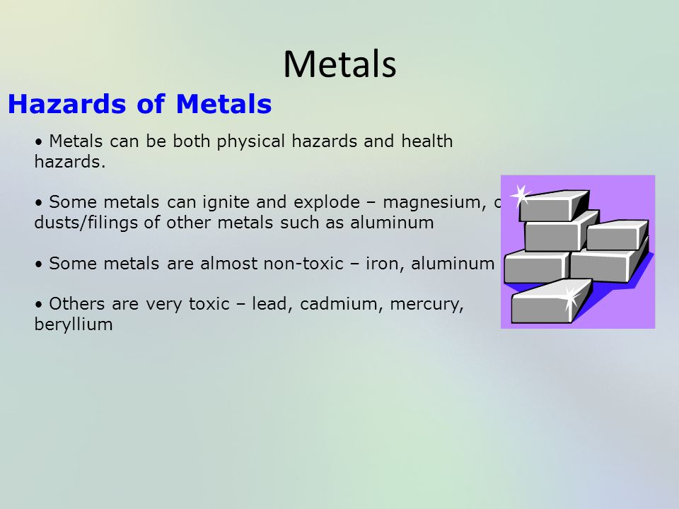 Metals Hazards of Metals